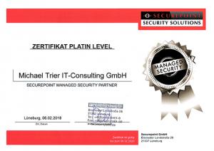 Platin Zertifikat